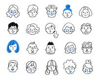 様々な人物の顔 セット