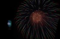 夜空に咲く大輪の花火