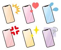 スマートフォンの様々なパターン