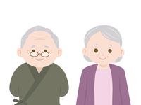 かわいい老夫婦のイラスト