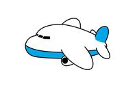 飛行機 旅客機のデフォルメ化したイラスト