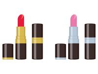 口紅のイラスト 美容 ビューティー 化粧品