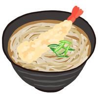 年越し蕎麦 海老天ののった天ぷらそば