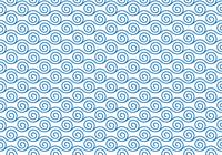 シームレスな和柄パターン 「波と渦潮」