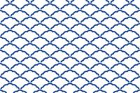シームレスな和柄パターン 「青海波」