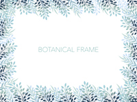 長方形のボタニカルフレーム