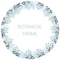 円形のボタニカルフレーム