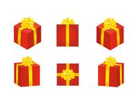 プレゼント 赤色 立体