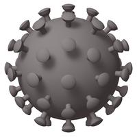 ウイルスイメージの3Dイラストレーション