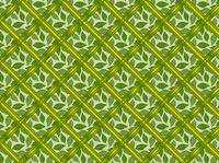 葉っぱと格子のパターン