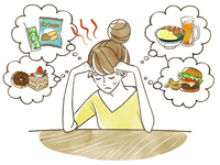 食欲を我慢する女性-ダイエット