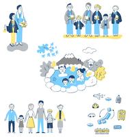 家族 温泉旅行イメージ セット