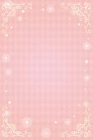 エレガントフレーム枠 メッセージカード ピンク