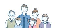 三世代家族 家族の集まり バストアップ