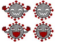 ウイルスの笑った顔