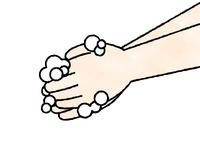 手洗い-石鹸-水彩
