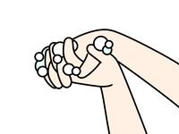 手洗い-指の間
