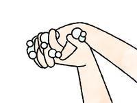 手洗い-指の間-水彩