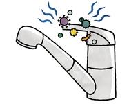 水栓レバーハンドル-菌・ウイルス-水彩