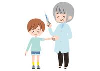 注射をうける子供