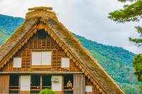 茅葺屋根の古民家(白川郷)