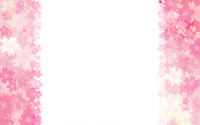 春の背景素材、桜のフレーム背景、左右