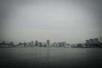レインボーブリッジから見える東京の街並み