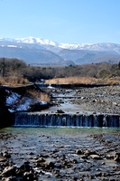 松川と蔵王