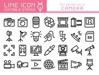 ラインアイコン アートシリーズvol.2 カメラ 写真撮影