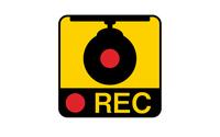 ドライブレコーダーの録画を示す警告ステッカ