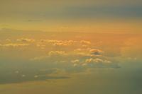 飛行機からの空撮と夕景(シンガポール)