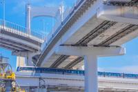 ゆりかもめ東京臨海新交通臨海線と首都高速道路