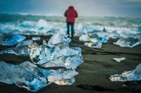 ヨークルスアゥルロゥンのダイヤモンドビーチ(アイスランド)