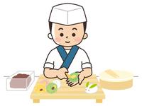 和菓子を作る職人