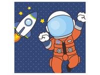 宇宙遊泳を楽しむ宇宙飛行士