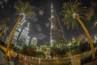 ブルジュカリファの夜景(アラブ首長国連邦)