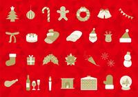 クリスマスのイラストセット