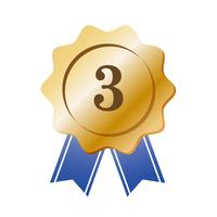 ブロンズのグラデーションの2位のメダル