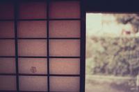 日本古民家の縁側