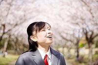 通学中の女子高生