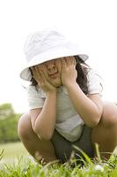 帽子を被った女の子