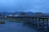 渡月橋の朝