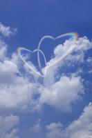 青空にハートの虹