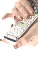 デコレーションした携帯