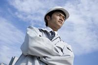 作業着を着たビジネスマン