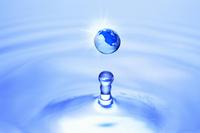 水滴と地球儀