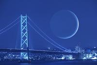 月とレインボーブリッジ