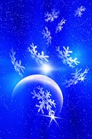 月と雪の結晶