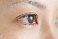 女性の右目