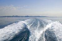航跡と三浦半島